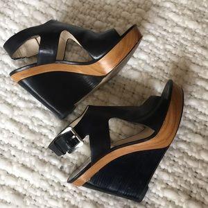 Michael Kors Josephine Platform Leather Sandals